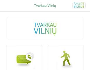 """<span>Mobilioji aplikacija """"Tvarkau Vilnių""""</span>Projekto vykdytojas: Vilniaus miesto savivaldybė"""